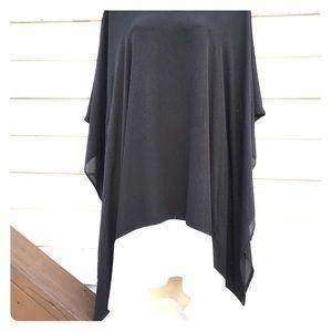 Askari blouse, bat wing style , black size xs